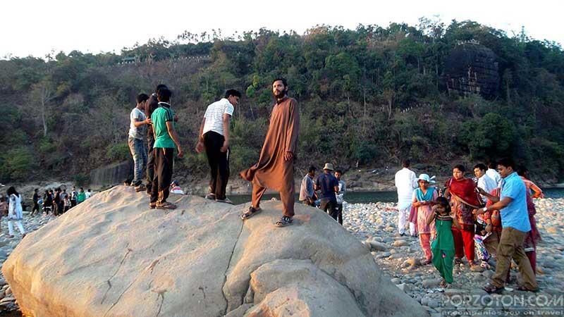 Jaflong Sylhet, A huge rock in Jaflong