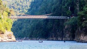 Jaflong Sylhet, iron bridge over the Piyain river