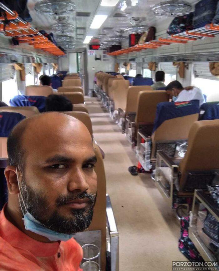 Interior view of Kishoreganj Express.