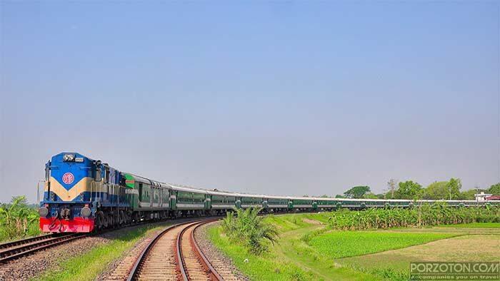 Rajshahi to Dhaka train Silkcity Express.