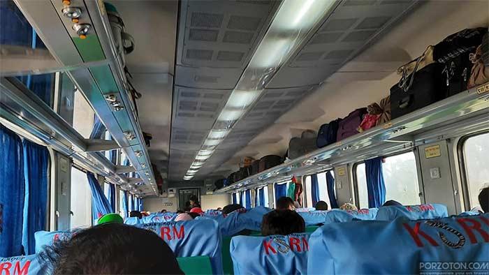 Seat plan of Dhaka to Khulna train Chitra Express.