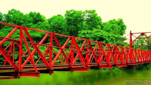 Hanging bridge in Lovachora, Sylhet
