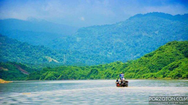Undulating green mountains of Meghalaya from Lovachora, Syhet