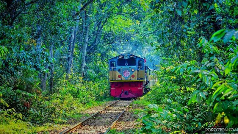 Dhaka to Srimangal train Kalani Express, porzton
