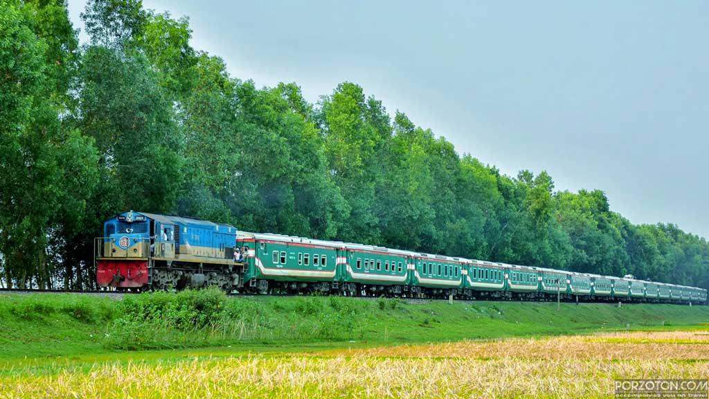 Parabat Express train Dhaka to Sylhet