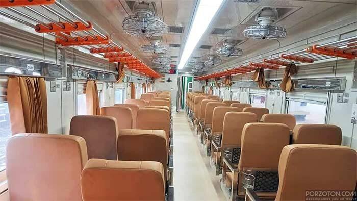 Interior view of Jayantika Express.