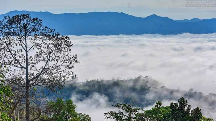 Sajek valley, covered with clouds