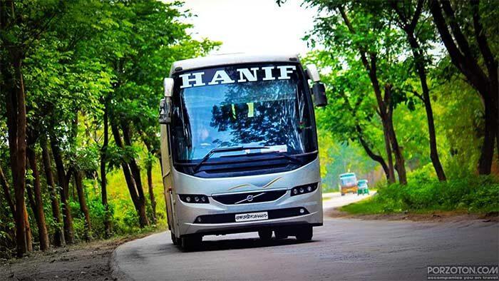 Hanif Enterprise Dhaka to Chittagong Counter