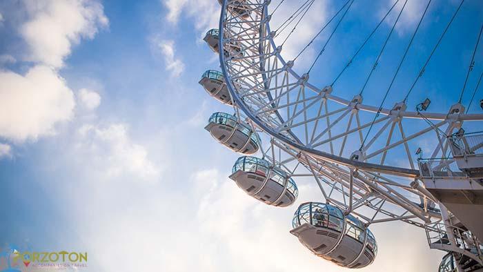 London Eye Ferris Wheel AC capsules
