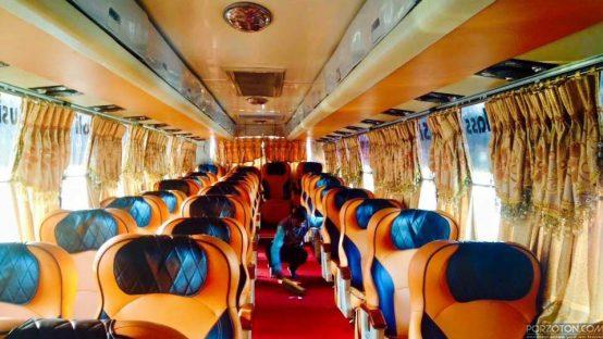 Dhaka to Sylhet bus Shyamoli Paribahan.