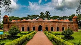 Shat Gombuj Masjid (sixty dome mosque), Bagerhat, Bangladesh